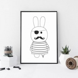Affiche lapin pirate