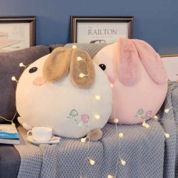 Coussin lapin rond